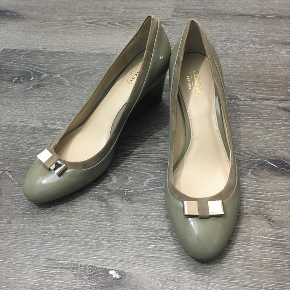 Coach Shoes - Coach – patent leather stacked wedge heel